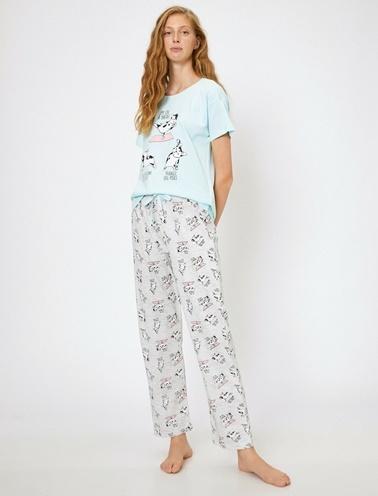 Koton Pijama Takım Yeşil